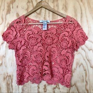 F21 • Lace Crop Top